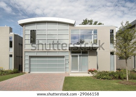 Modern luxury home - stock photo