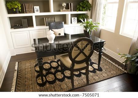 Modern luxury home office. - stock photo