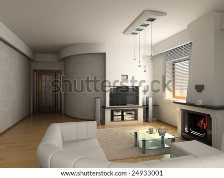 modern luxury living room (3D)