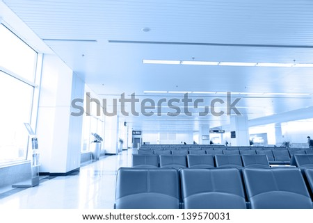 modern luxury seats in the airport - stock photo