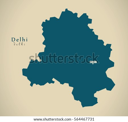 Modern map delhi india federal state stock illustration 564467731 modern map delhi in india federal state illustration silhouette gumiabroncs Gallery
