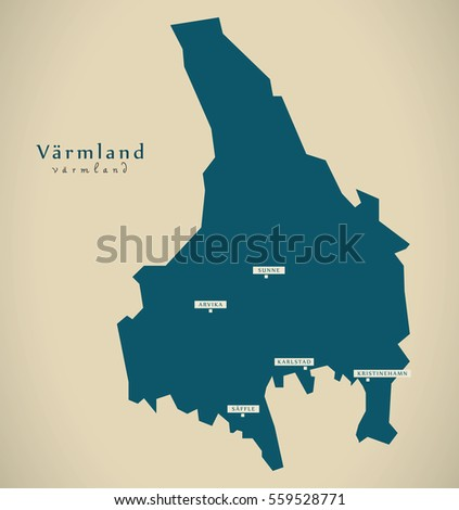 Varmland Stock Images RoyaltyFree Images Vectors Shutterstock - Sweden map varmland