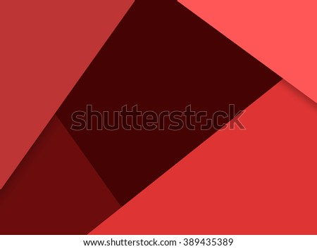 Modern material design template. Material design trendy background. Geometric shapes and natural colors balance. Realistic abstract technology. Red color scheme