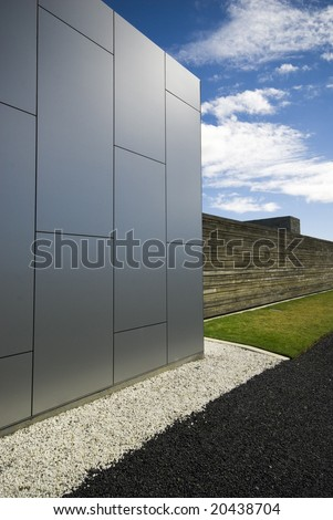 Modern materials for modern buildings and architecture - stock photo