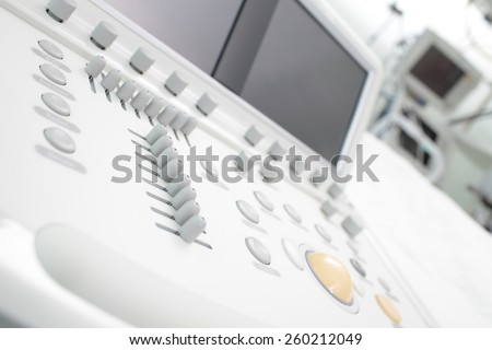 Modern medical device in hospital - stock photo