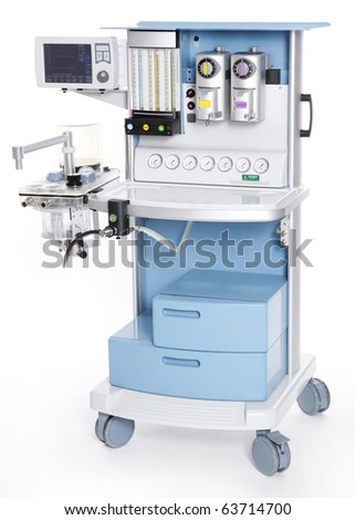 Modern medical emergency oxygen regulator - stock photo