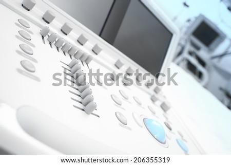 Modern medical equipment. Fragment of echo machine  - stock photo