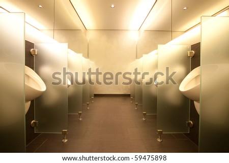 Modern men's bathroom interior architecture and design - stock photo