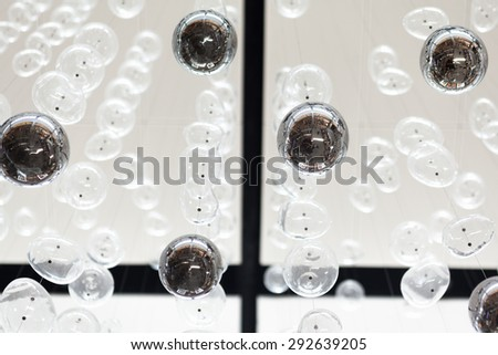 modern metal and translucent ball for roof decoration  - stock photo