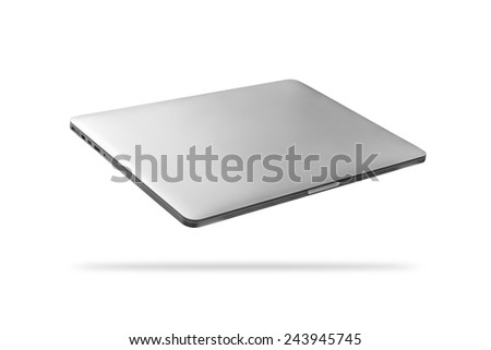 Modern metal laptop on a white background