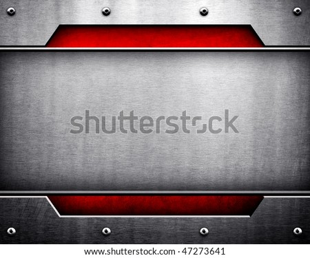 modern metal template - stock photo