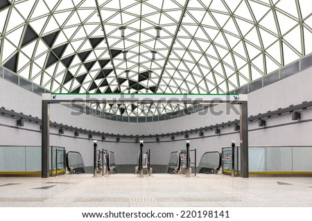Modern metro interior - stock photo