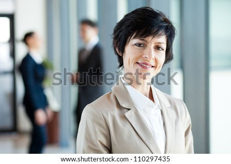 modern middle aged businesswoman portrait - stock photo