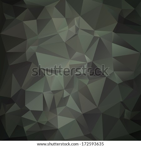Modern military camouflage background (green,woodland) made of geometric shapes - stock photo