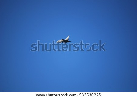 Modern military fighter airplane