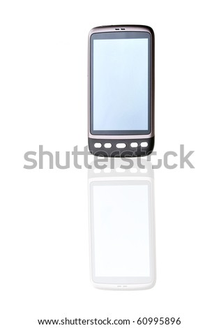 modern mobile phone close up - stock photo
