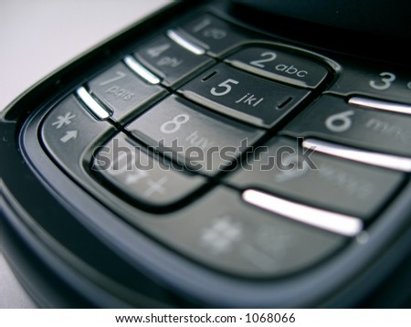 modern mobile phone navigation menu, black control panel