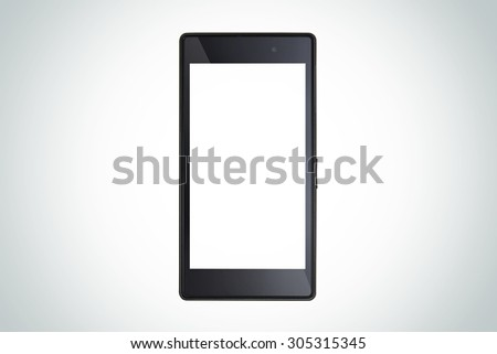 modern mobile smart phone. Isolated on white. - stock photo