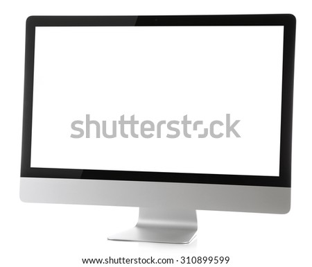 Modern monitor isolated on white