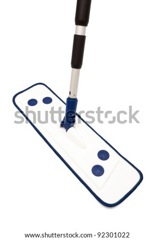 modern mop for washing floors on a white background - stock photo