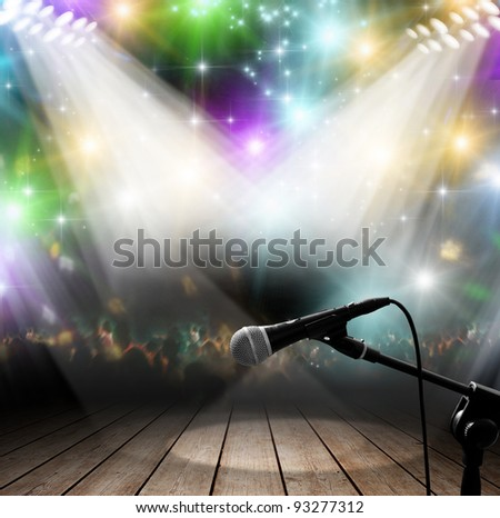 Modern music concert with light effects - stock photo