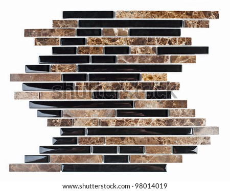Modern natural marble and granite mosaic tile. - stock photo