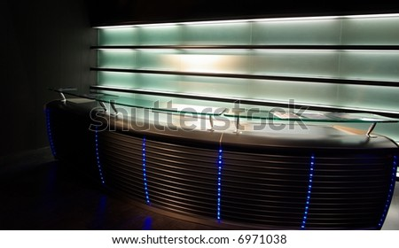 Modern neon bar unit - stock photo