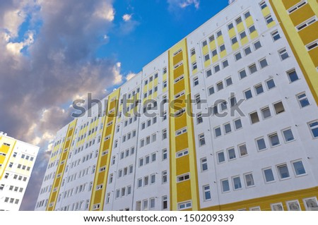 Modern, new executive apartment building in Kerch - stock photo