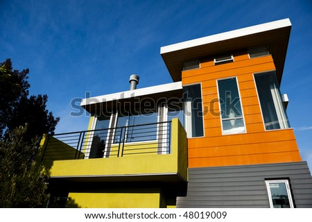 Modern new house - stock photo