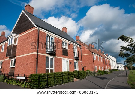 Modern new houses , England - stock photo