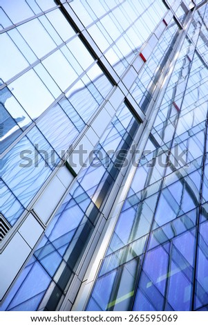 Modern office building - abstract background - stock photo
