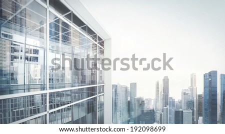 Modern office building exterior - stock photo