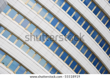 modern office building facade (glass pattern) - stock photo