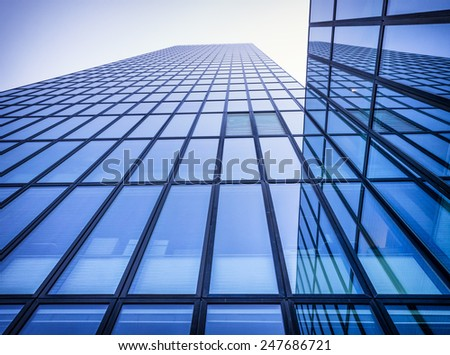 modern office building in berlin - germany - stock photo