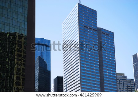 modern office building in downtown district of Dallas