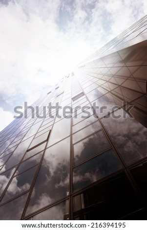 modern office building in Frankfurt am Main, Germany - stock photo