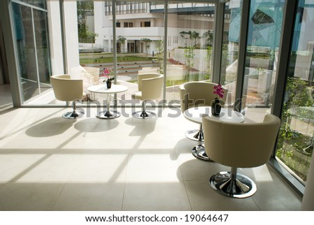 Modern office building interior and decoration design