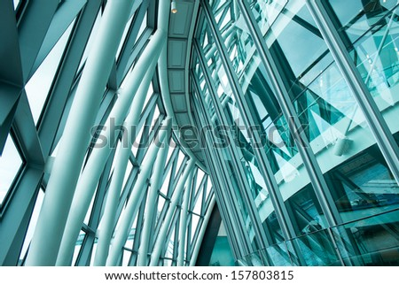 Modern Office Building Reflections - stock photo