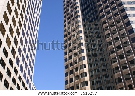 Modern Office building skyscraper los angeles - stock photo