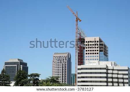 Modern Office Building Under Construction - stock photo