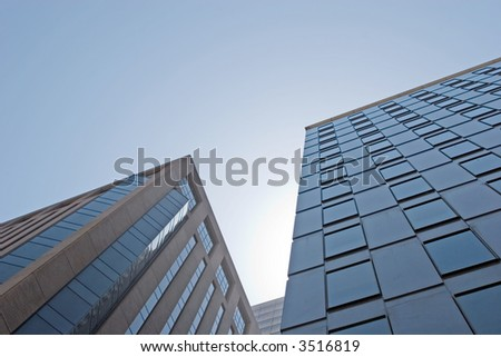 Modern office buildings