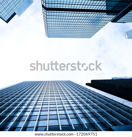 Modern office buildings in hong kong. - stock photo