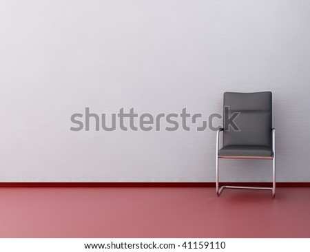 Modern Office Chair to face a blank white wall