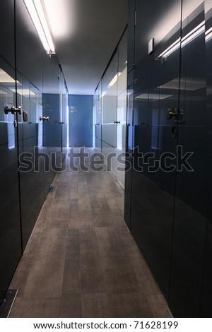 modern office corridor - stock photo