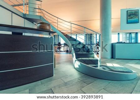 Modern Office Interior. - stock photo