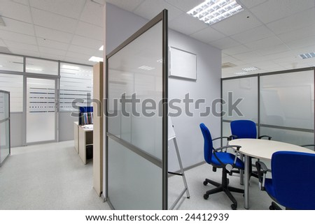 Modern office interior, conference room - stock photo