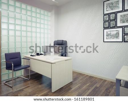 modern office interior design - stock photo