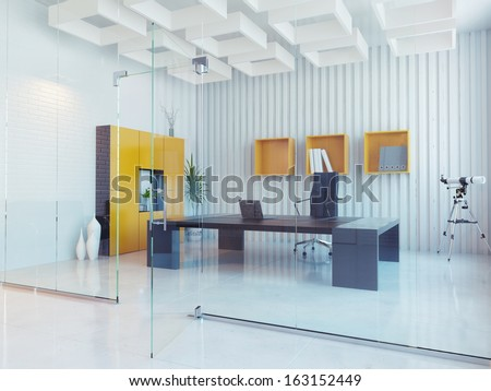modern office interior design - stock photo