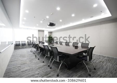 Modern office interior,Meeting room - stock photo