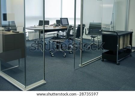 modern office interior photo - stock photo